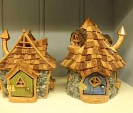 Shingletown Cottage Fairy House and Cone Top Fairy House - Price €29.75 each