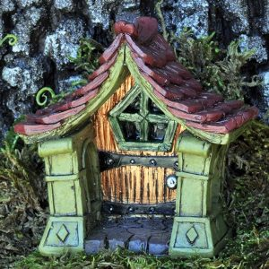 copper fairy door