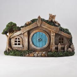 hobbit cottage with lights