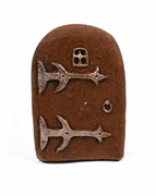 fairy door brown small