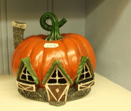 Fiddlehead Pumpkin Fairy House