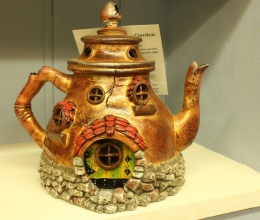 Fiddlehead Teapot Fairy House