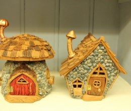 Shingletown Fairy Mushroom House & Woodland Cabin