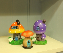 Toadstool Fairy Houses